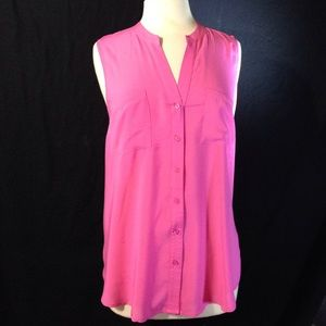 Old Navy Silky Sleeveless Button Down Top