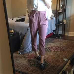 Blush tailored skinny high waisted trousers