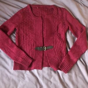 Sweaters - Belted sweater