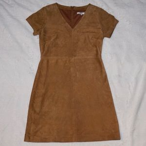 Madewell Suede Leather Shift Dress