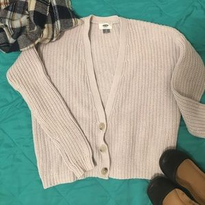 Old Navy Cozy Cropped Cardigan Gray XS