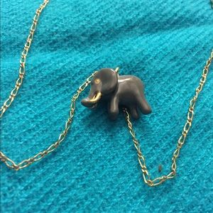 Adorable J Crew elephant charm necklace