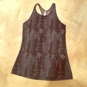 Under Armour black tie dye workout top
