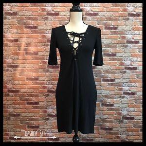 Topshop Lace Up Tunic Dress