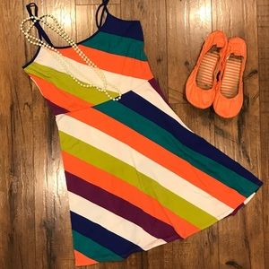 Vibrant spaghetti strap dress