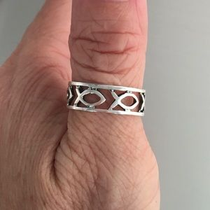 Jewelry - Sterling Silver Eternity Icthus Ring
