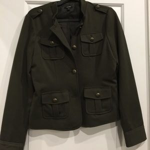 Olive Military Inspired Jacket