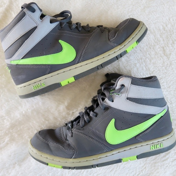 Nike Air Prestige High Top Gray Green Shoes