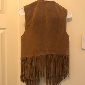 Brand new tan/brown suede vest