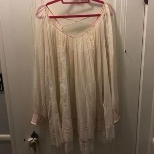 Free People Cream Dress