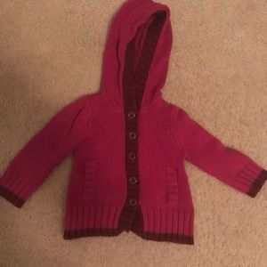 Little girls hooded sweater