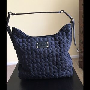 Kate Spade Black Quilted Fabric Handbag