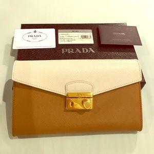 Prada saffiano leather clutch