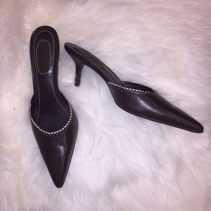 Ralph Lauren Kitten Slip On Heels/Mules