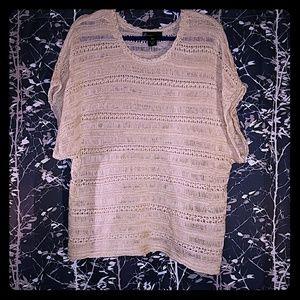 Lane Bryant 18/20 Open Weave Short Sleeve Sweater