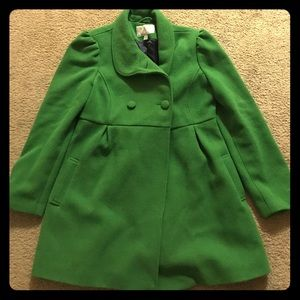 Vintage Inspired Green Peacoat from Old Navy
