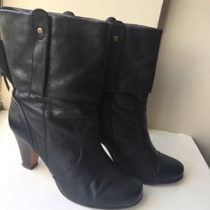 Dolce Vita Leather Booties, Black