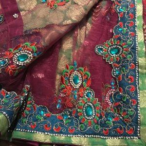 Other - Half net half georgette sari lehenga