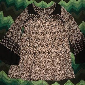 Free People tunic dress v-neck long sleeves flowy