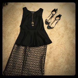 Gorgeous Black & Gold Pencil Skirt.