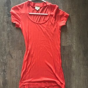 Ella Moss XS Orange/Red Fitted T-shirt
