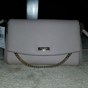 New Kate spade saffiano gray leather cross body