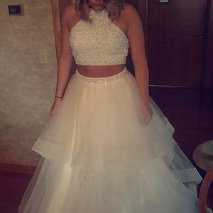 2016 Alyce Paris two piece prom dress