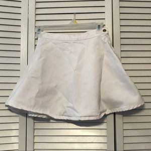 NWOT American Apparel White Circle Skirt