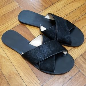 Banana Republic Leather Calf Hair Sandals - 8.5