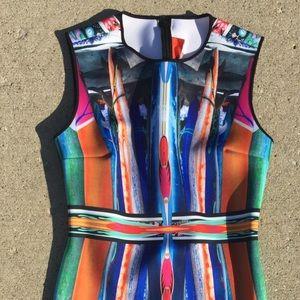 Clover Canyon Neoprene Print Dress