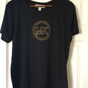 Michael Kors, NWT, blouse, Logo, short sleeve