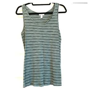 Liz Lange Maternity Green Ribbed Tank Large