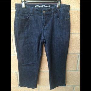 eddie Bauer Curvy Crop Jeans Size 10P 34.5X21.5