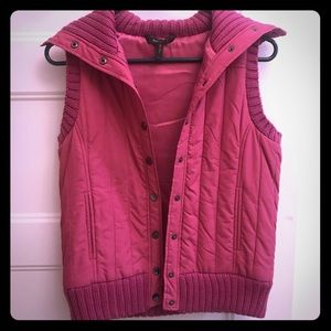 BCBG fuchsia vest only worn once!