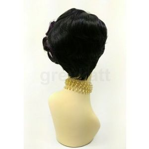 Accessories - Purple and black asymmetric finger waves wig