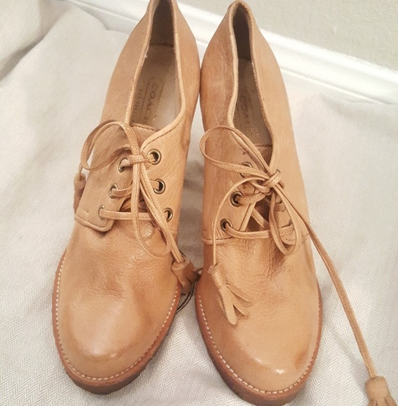 outlet Inexpensive explore for sale Coach Leather Oxford Booties real for sale cheap sale browse C5h8w