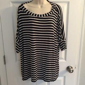 Black & white striped Chico's top, size 3