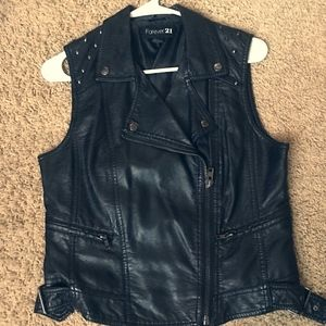 Forever 21 leather vest.
