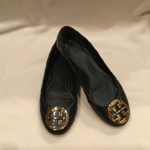Black Tory Burch quilted flats