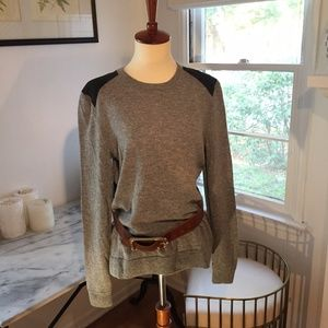 rag & bone wool and suede sweater