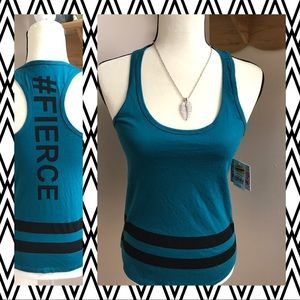 🔥NWT Juniors Chin-Up #Fierce tank top Size XS