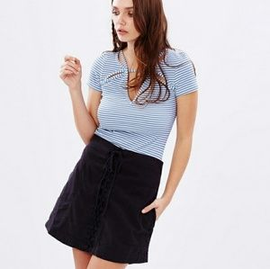 Free People 'Frenchie' Stripe Cutout Tee