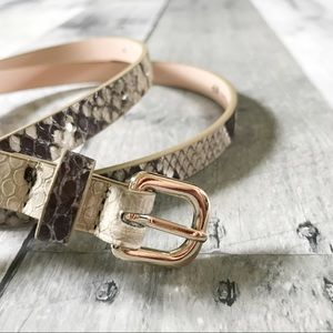 Snake Skin Skinny Belt (VEGAN leather)