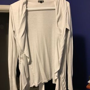 White Express Rouched Cardigan