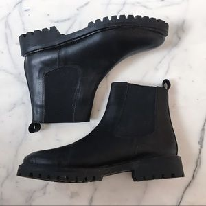Grunge Chelsea Leather Ankle Booties