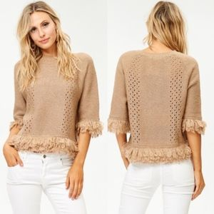 HACIENDA Sweater Top - TAUPE