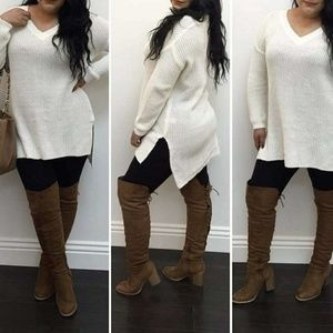 Tops - Ivory sweater tunic