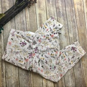🎈 Old Navy Flower Print Pixie Ankle Length Pants