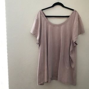 Cable and Gauge Rose Oversized Tee