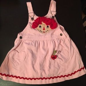 Other - Raggedy Ann & Andy Corduroy Overall Dress